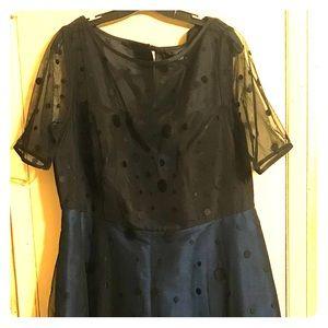 Black/Navy Blue Maxi Formal Dress